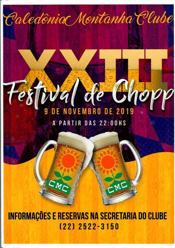 XXIII FESTIVAL DE CHOPP